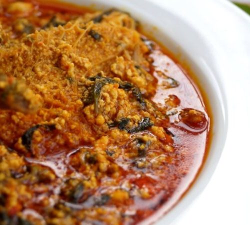Egusi Soup and Water Leaf